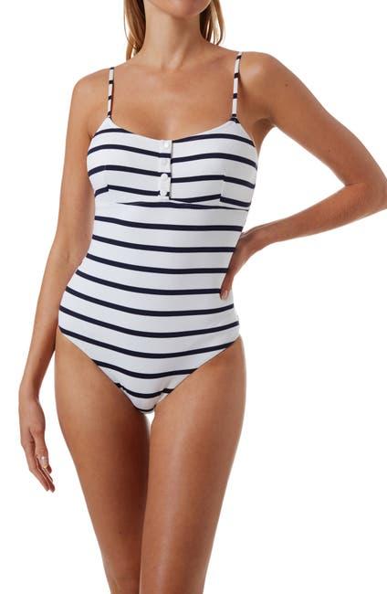 Image of Melissa Odabash Calabasas Ribbed One-Piece Swimsuit
