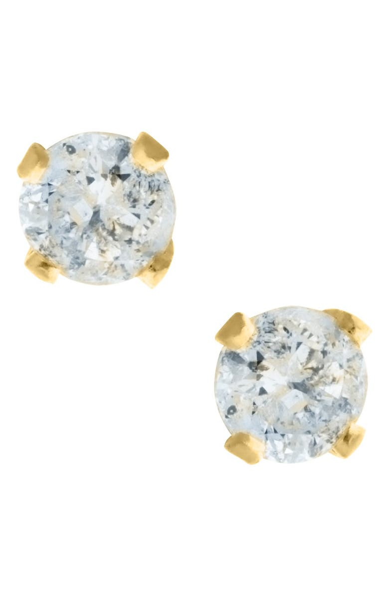 MIGNONETTE 14k Yellow Gold & Diamond Stud Earrings, Main, color, GOLD