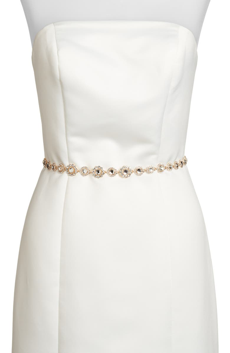 KATE SPADE NEW YORK crystal bridal belt, Main, color, GOLD