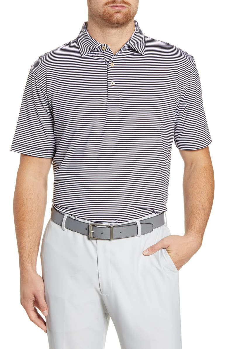 PETER MILLAR Hales Stripe Performance Polo, Main, color, 001