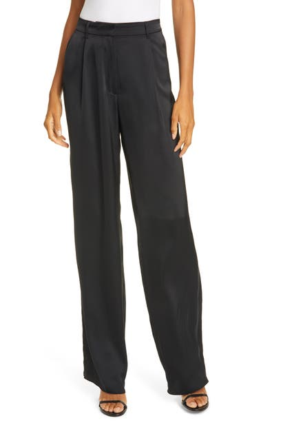 Atm Anthony Thomas Melillo Pants NOVELTY SATIN WIDE LEG EASY PANTS