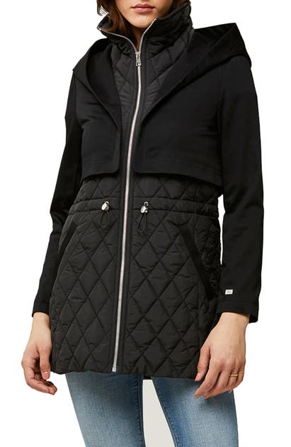Soia & Kyo Jackets ENORA MIX WATER REPELLENT QUILTED RAINCOAT