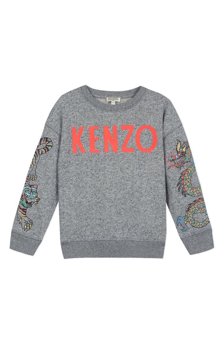 KENZO Dragon Sleeve Sweatshirt, Main, color, 087