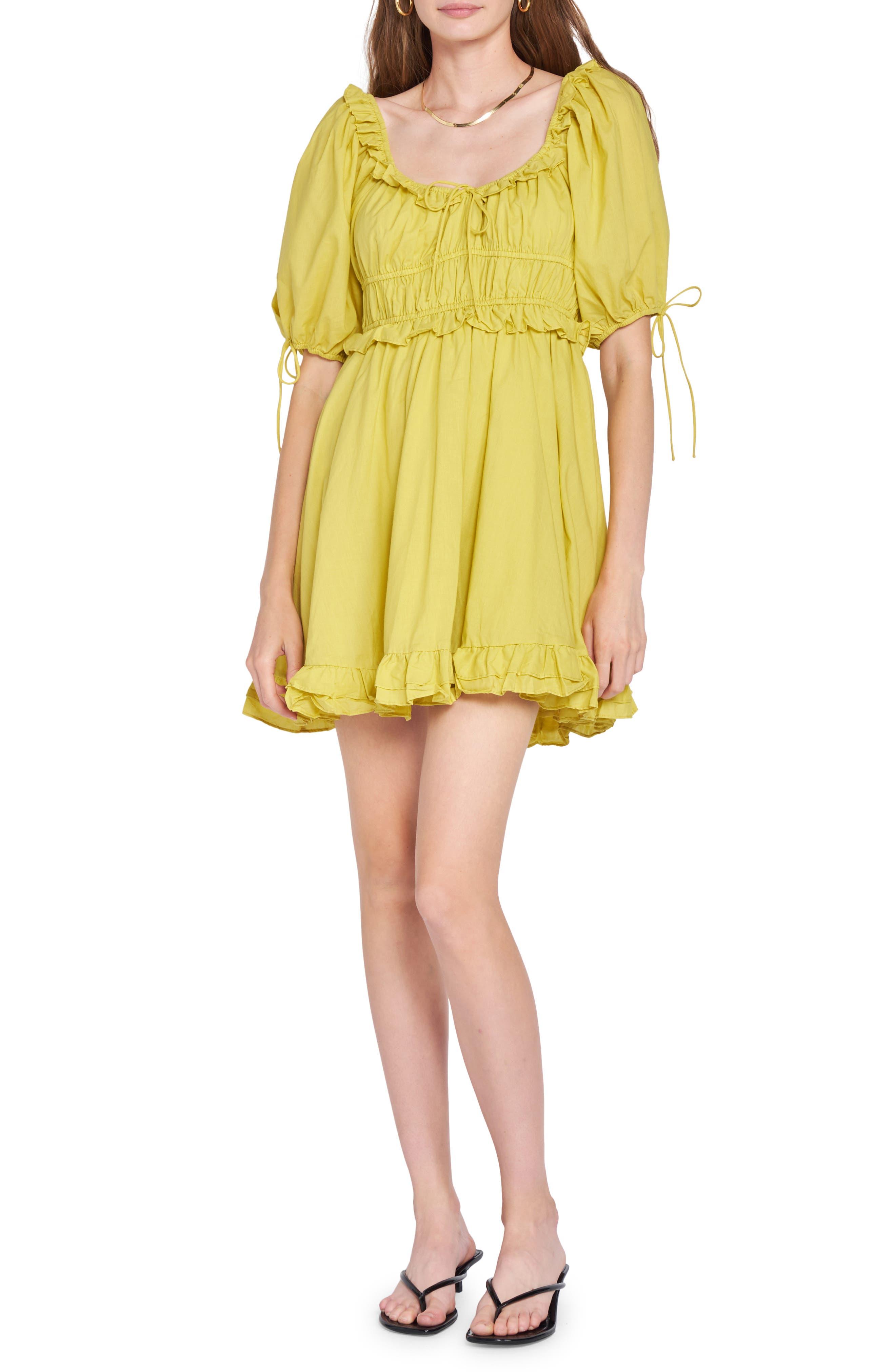 Puff Sleeve Cotton Minidress