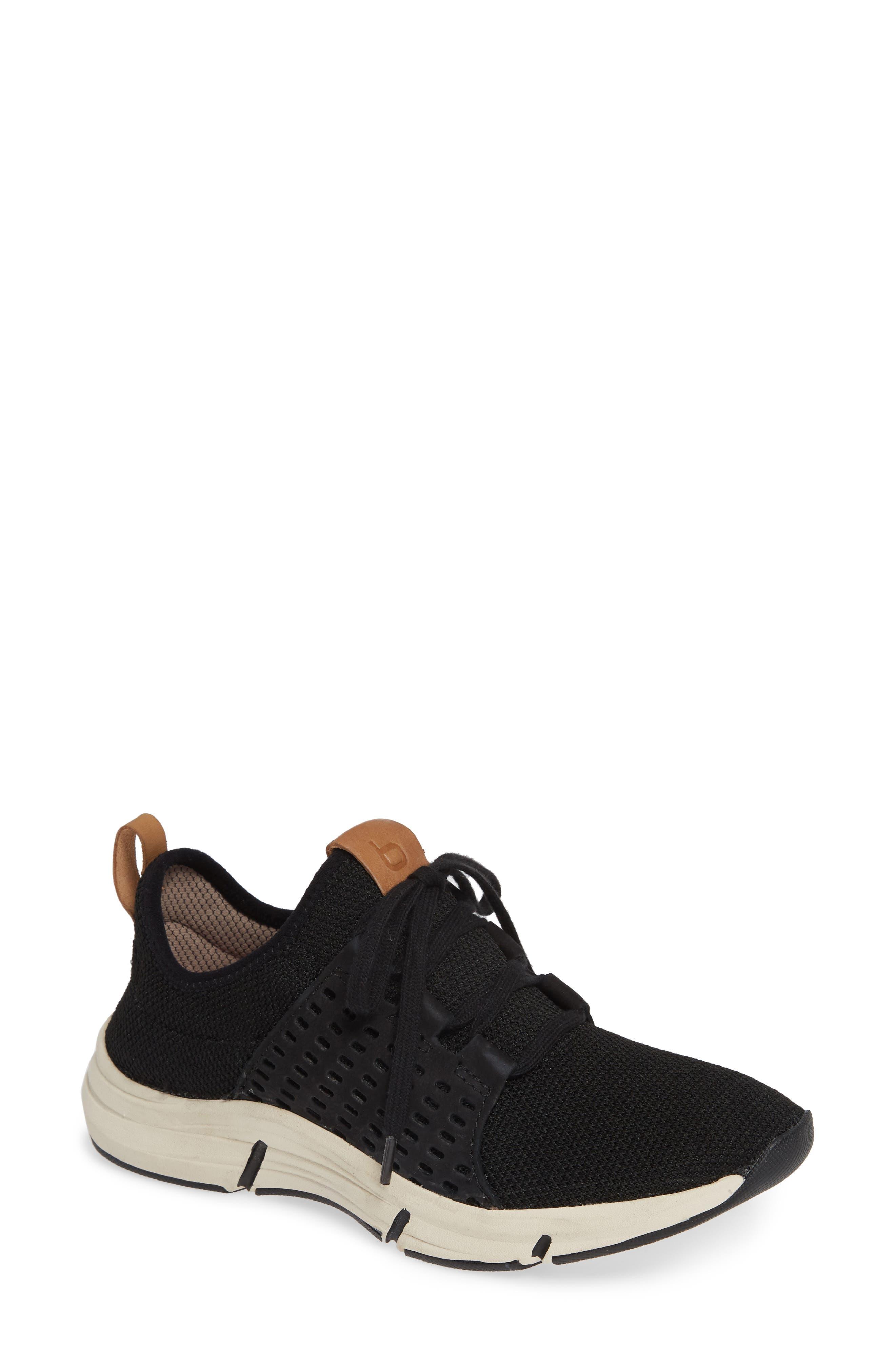 Orsola Sneaker, Main, color, BLACK NUBUCK LEATHER