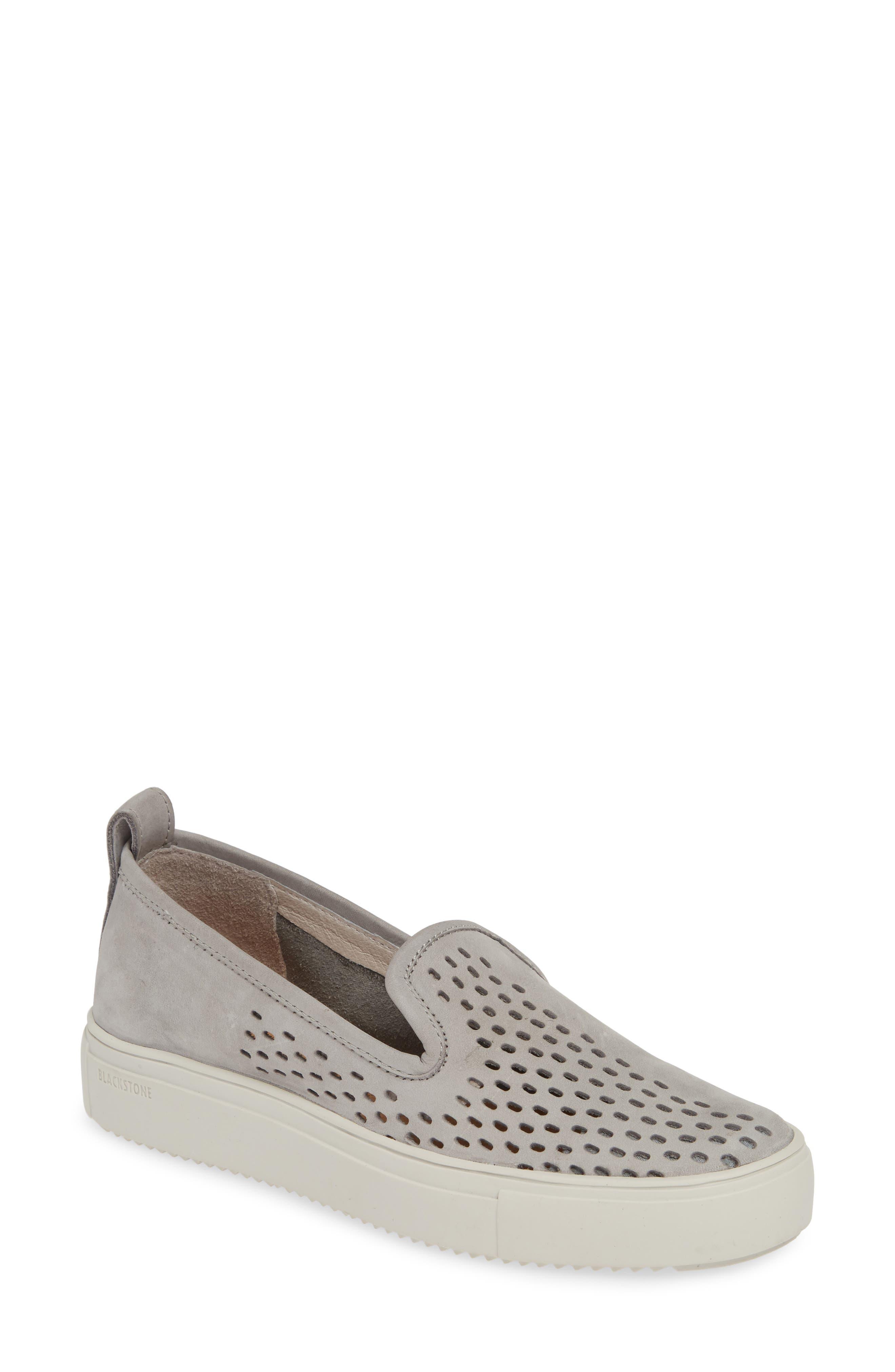 Blackstone Rl68 Perforated Slip-On Sneaker, Metallic