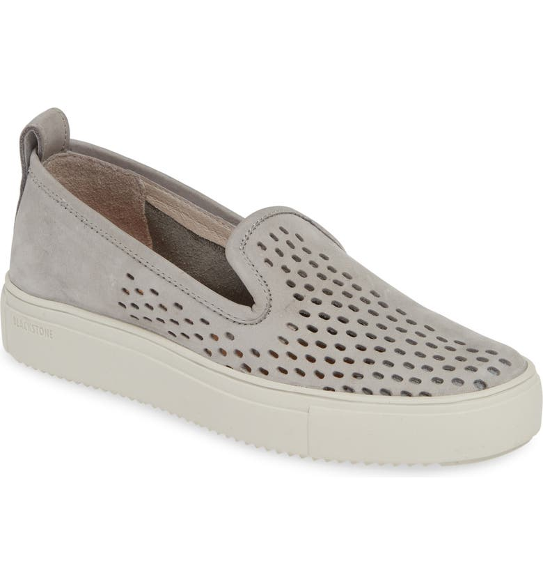 BLACKSTONE RL68 Perforated Slip-On Sneaker, Main, color, SILVER SCONCE LEATHER