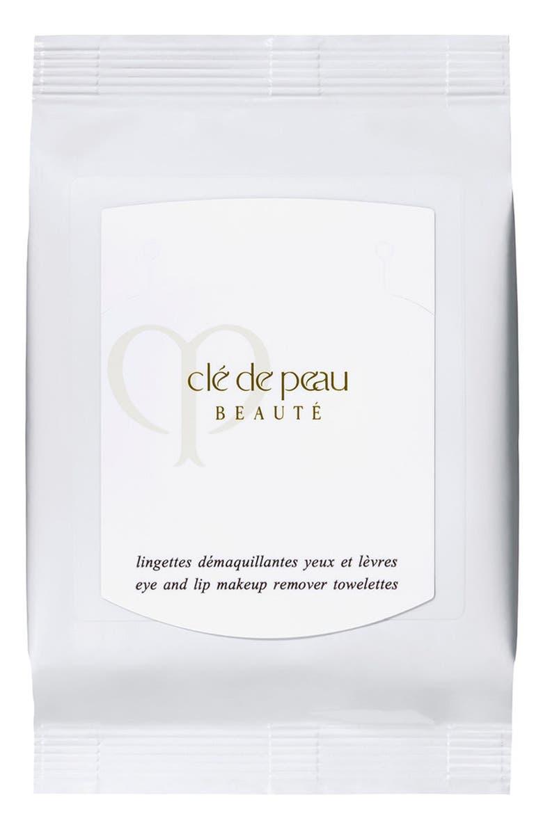 CLÉ DE PEAU BEAUTÉ Eye & Lip Makeup Remover Sheets, Main, color, NO COLOR