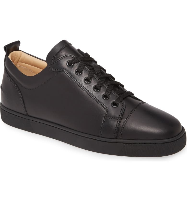 CHRISTIAN LOUBOUTIN Louis Junior Low Top Sneaker, Main, color, BLACK/ BLACK