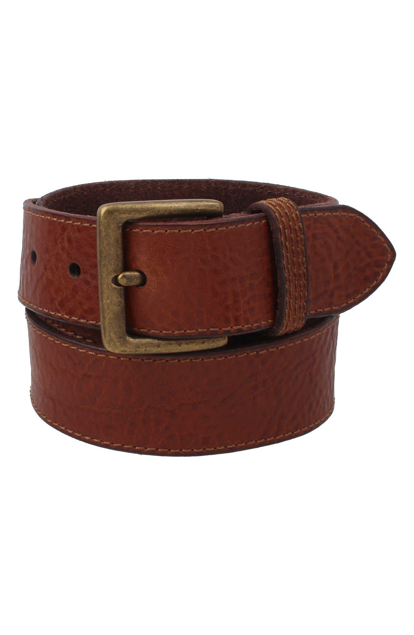 Pebbled Leather Belt