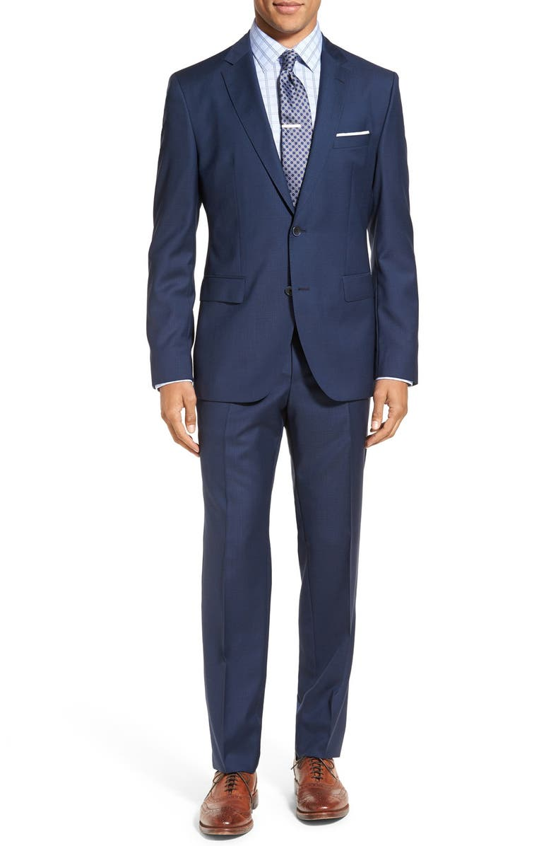 7efb9ed71 BOSS Jewels/Linus Trim Fit Check Wool Suit, Main, color, 401