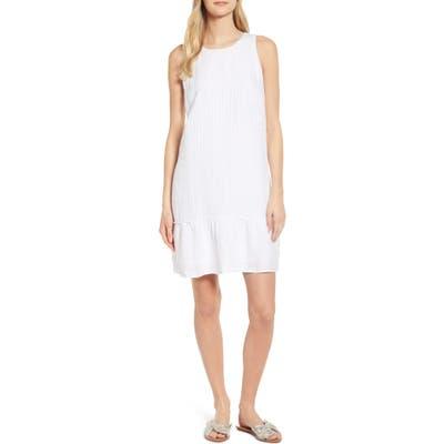 Tommy Bahama Porte Fino Sleeveless Linen Blend Shift Dress, White