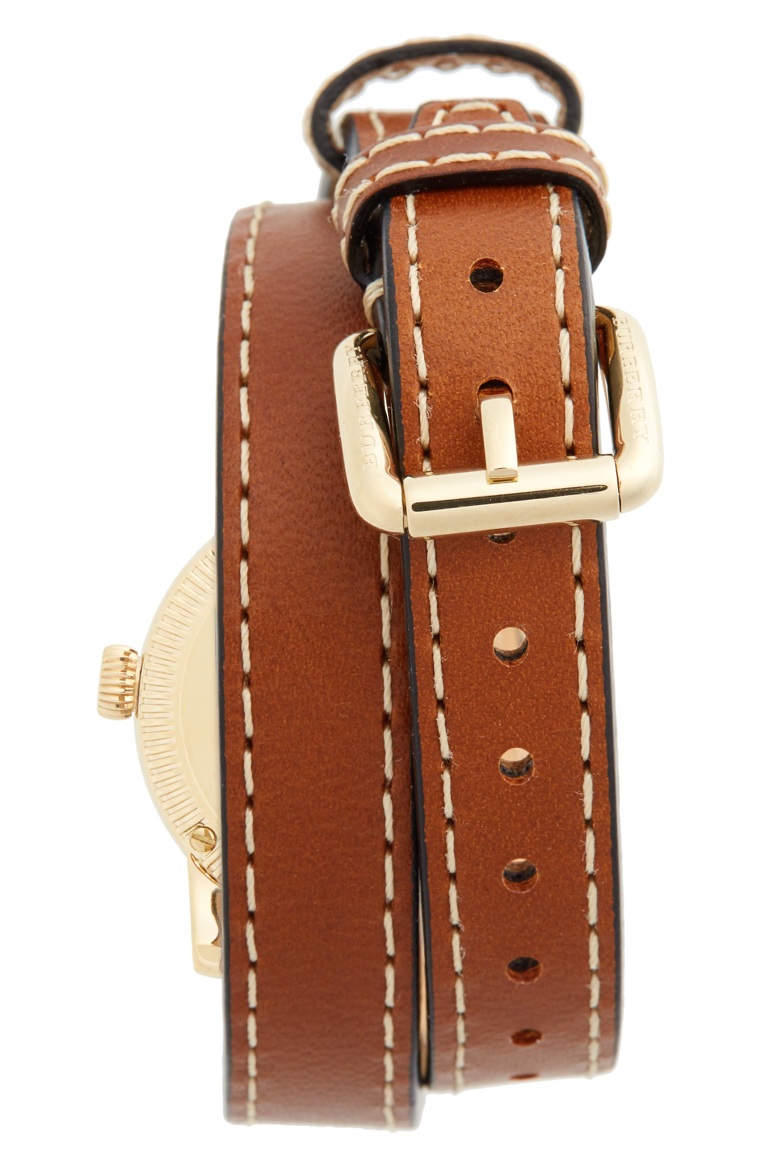 ,                             'Utilitarian' Round Leather Wrap Watch, 30mm,                             Alternate thumbnail 12, color,                             200