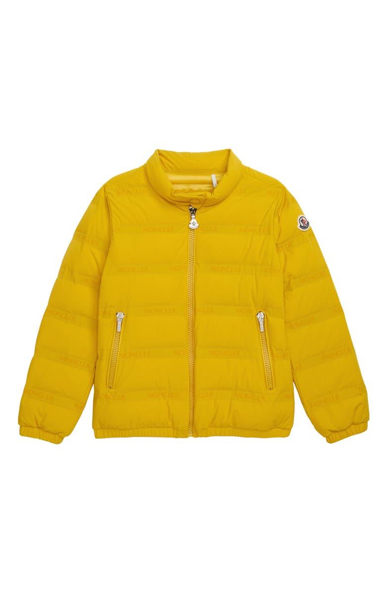 MONCLER Dorine Water Repellent Down Jacket, Main, color, YELLOW