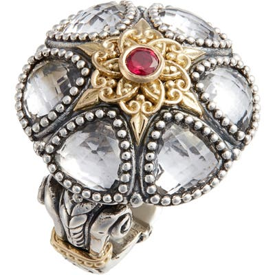 Konstantino Pythia Crystal Statement Ring