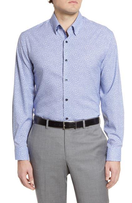 Image of WRK Trim Fit Mini Paisley Dress Shirt