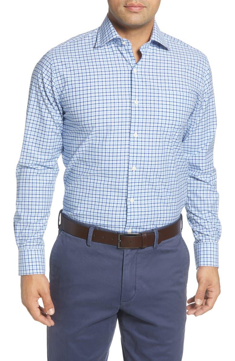 PETER MILLAR Claude Regular Fit Check Button-Up Shirt, Main, color, 477
