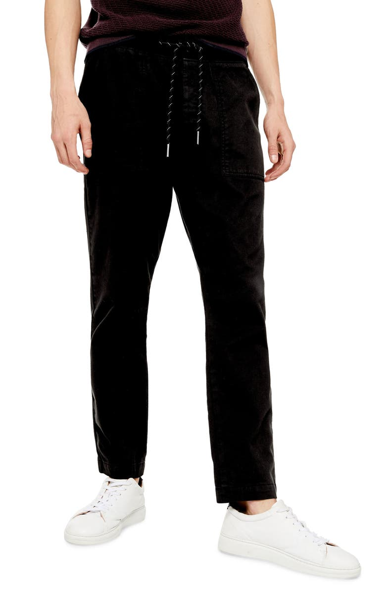 TOPMAN Skinny Fit Jogger Pants, Main, color, BLACK