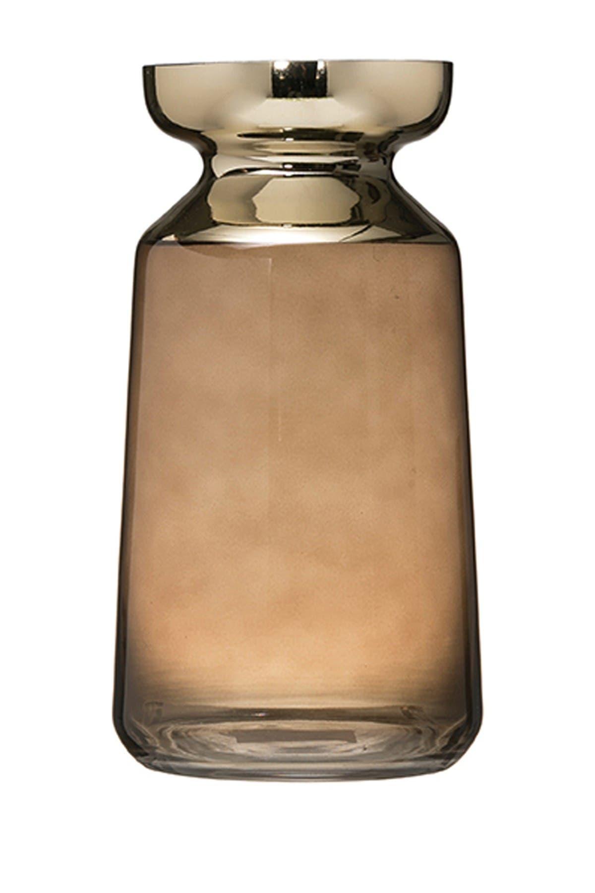 BLOOMINGVILLE Tinted Metallic Glass Vase