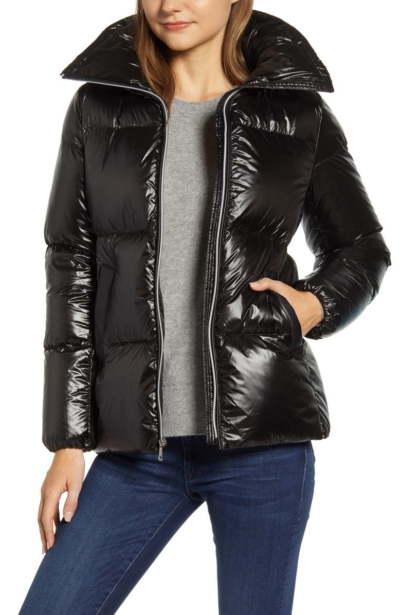 COLE HAAN SIGNATURE Down Puffer Jacket, Main, color, BLACK