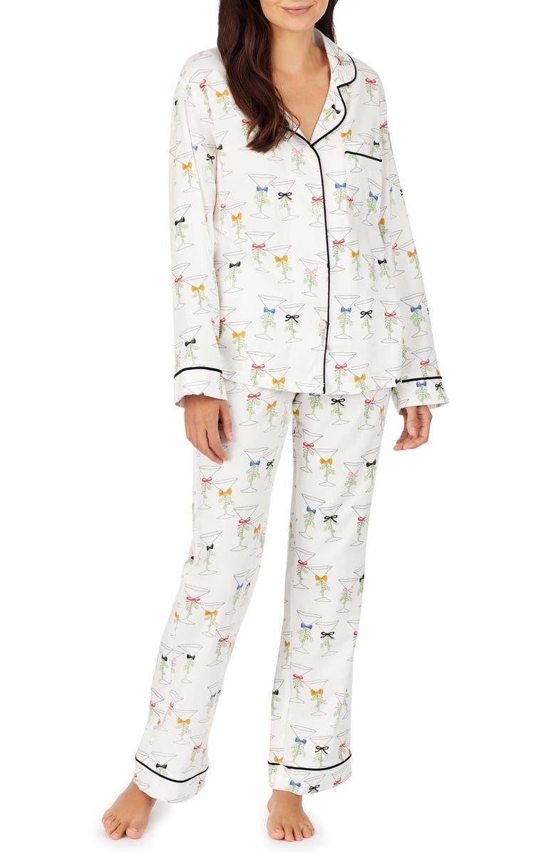 BEDHEAD PAJAMAS BedHead Martinis & Mistletoe Classic Pajamas, Main, color, 100