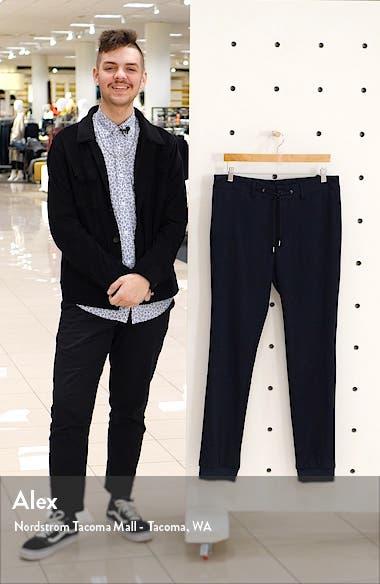 Glen Plaid Wool Jersey Jogger Pants, sales video thumbnail