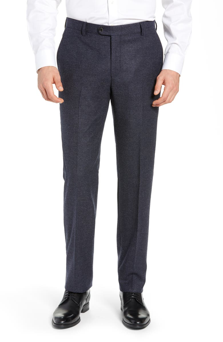 HICKEY FREEMAN Classic B Fit Solid Dress Pants, Main, color, GREY