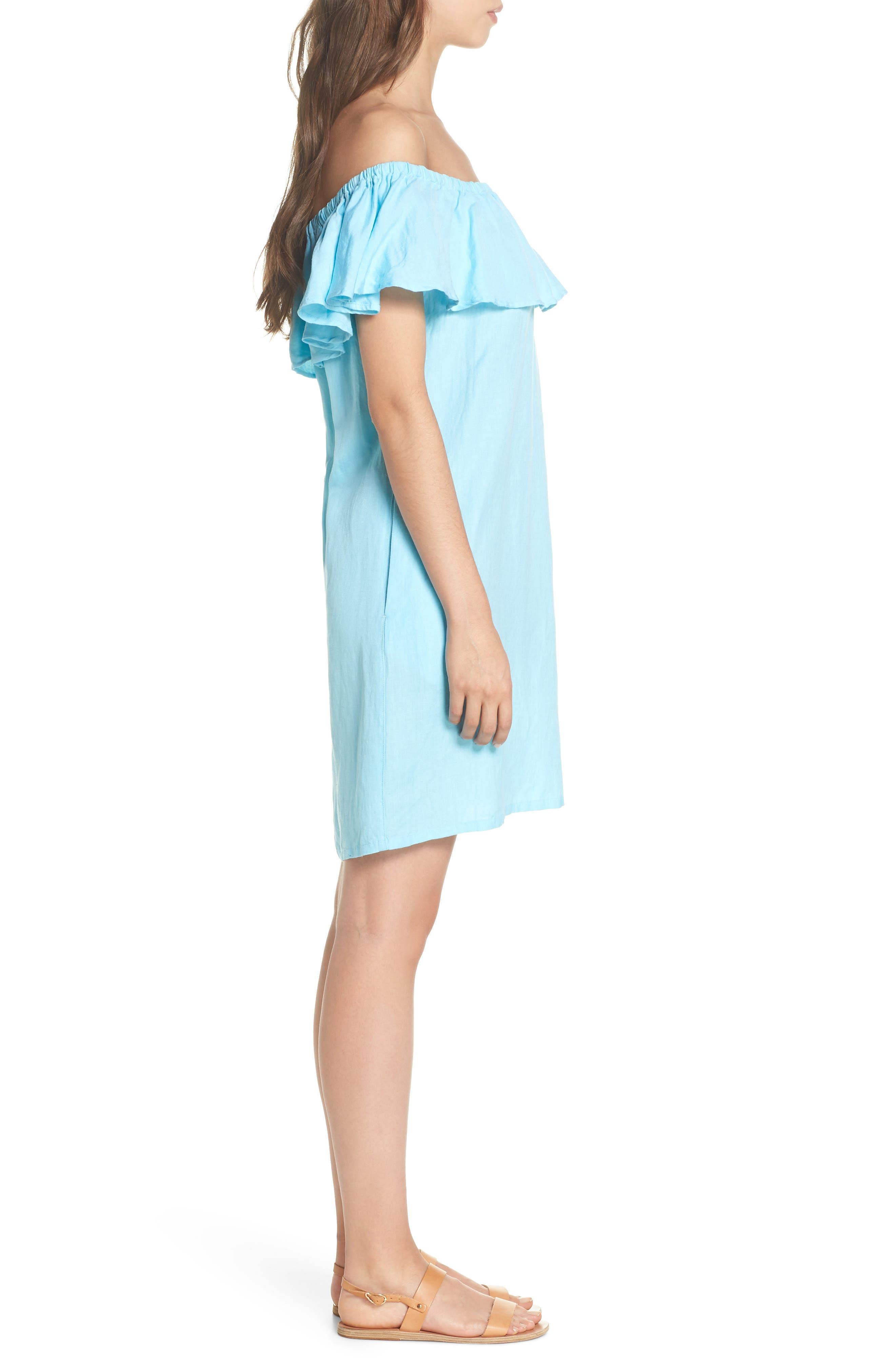 ,                             Off the Shoulder Cover-Up Dress,                             Alternate thumbnail 22, color,                             402