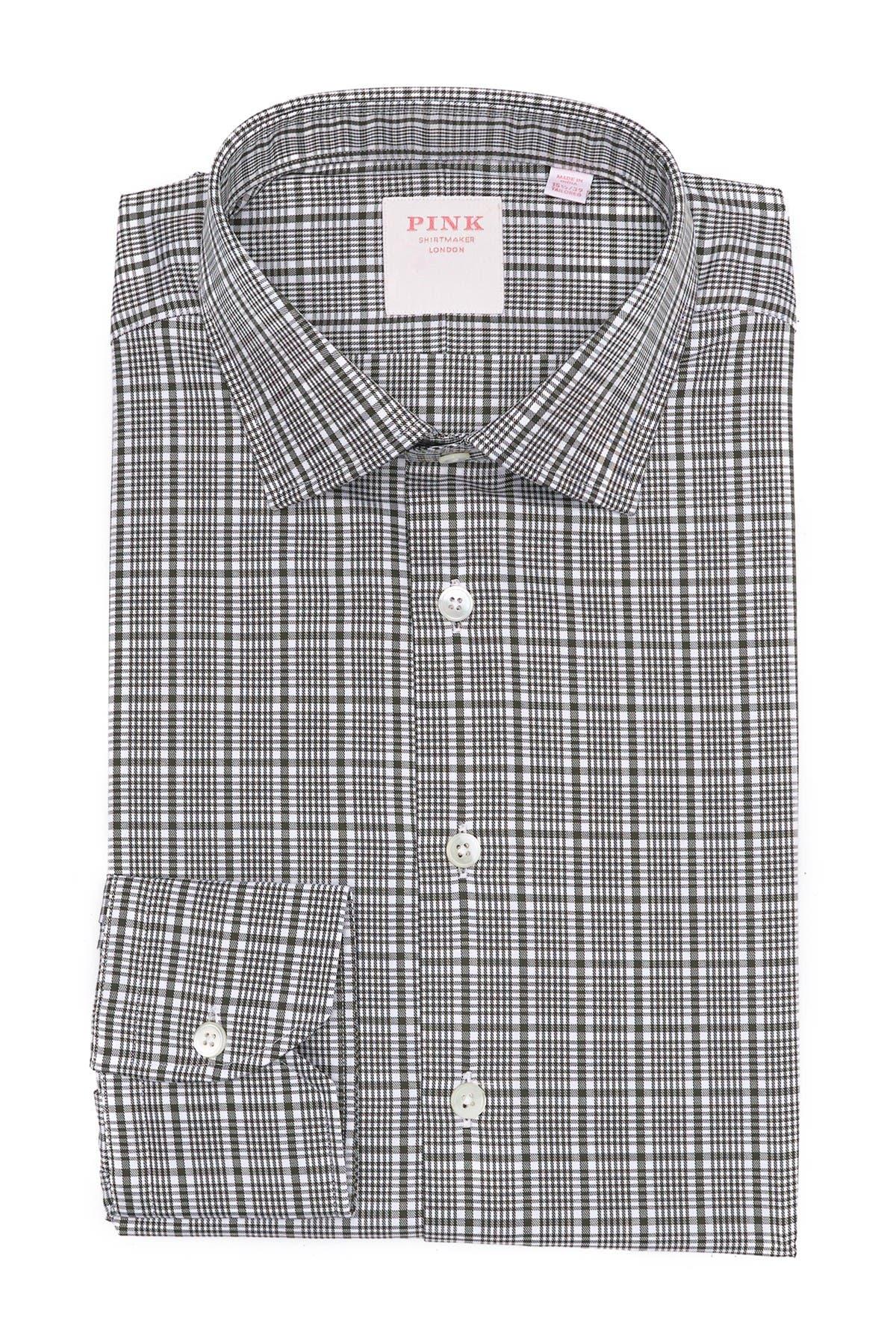Image of THOMAS PINK Royal Check Print Dress Shirt