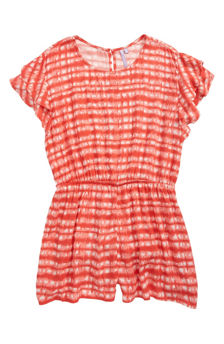 GOOD LUCK GIRL Print Romper, Main, color, 400
