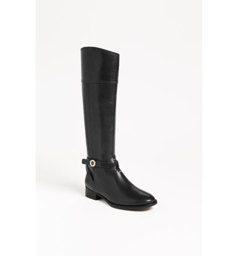 TORY BURCH 'Brita' Riding Boot, Main, color, 001