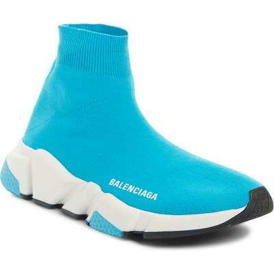 Balenciaga Speed Knit Sneaker, Blue