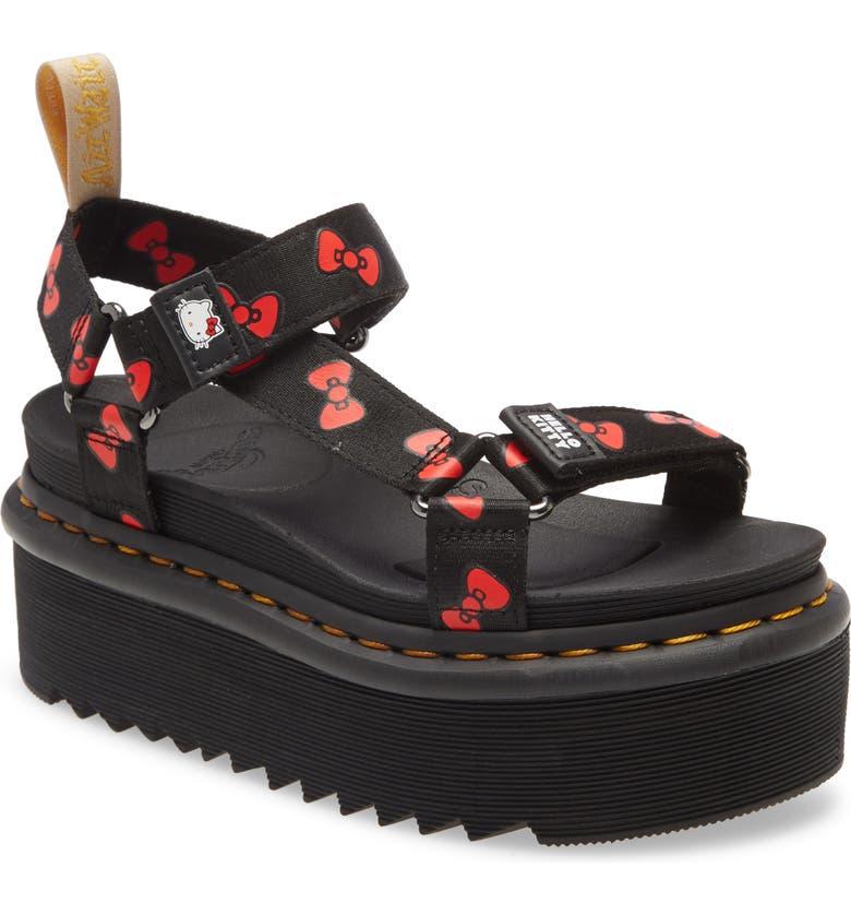 DR. MARTENS x Hello Kitty Platform Sandal, Main, color, 002