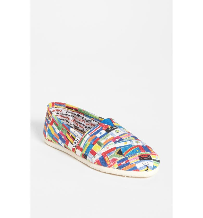 TOMS 'Classic - Flag' Slip-On, Main, color, 600
