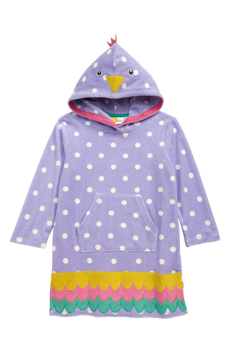 MINI BODEN Fun Terry Hooded Cover-Up Dress, Main, color, 500