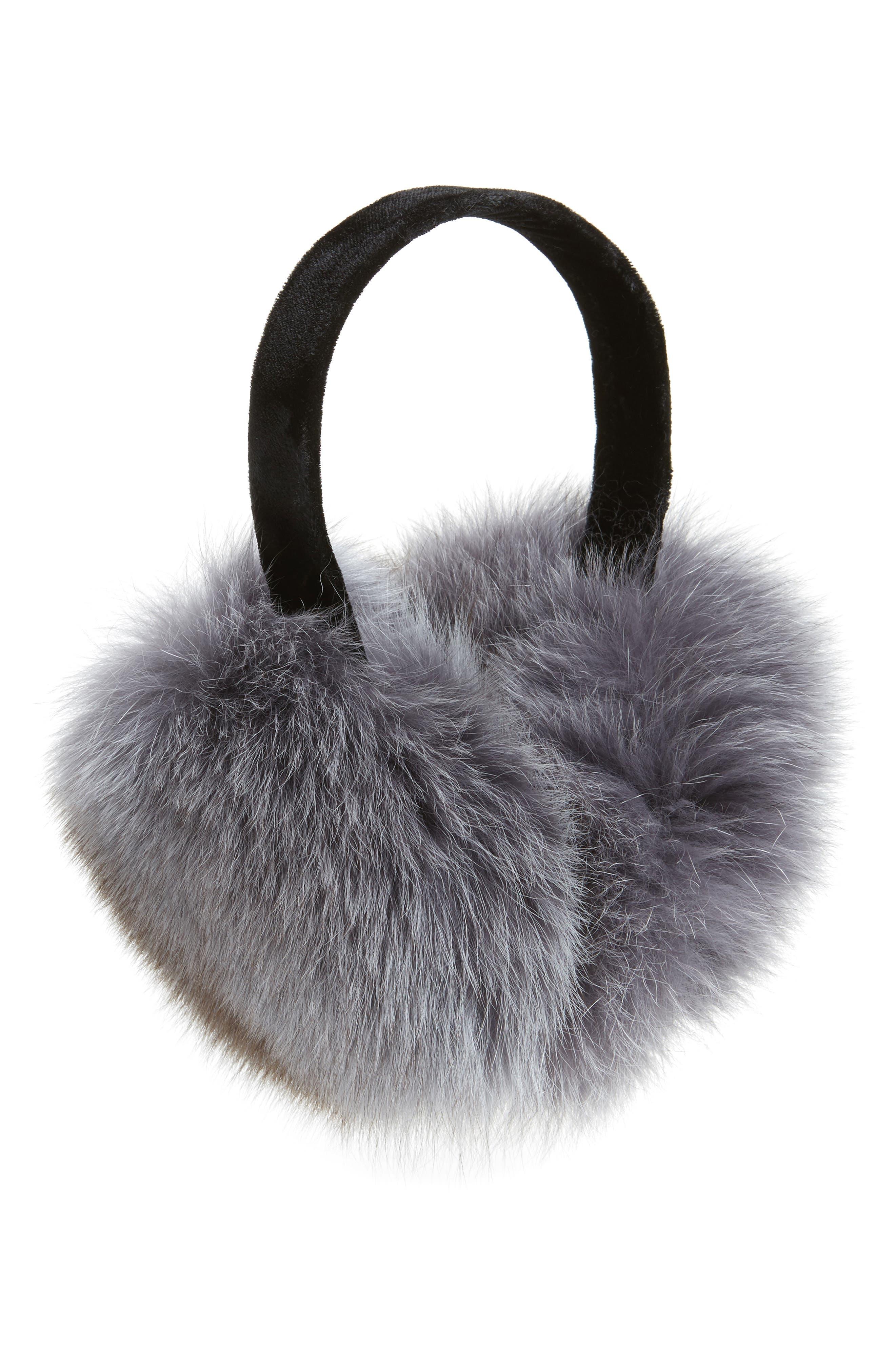 ,                             Genuine Fox Fur Earmuffs,                             Main thumbnail 5, color,                             029