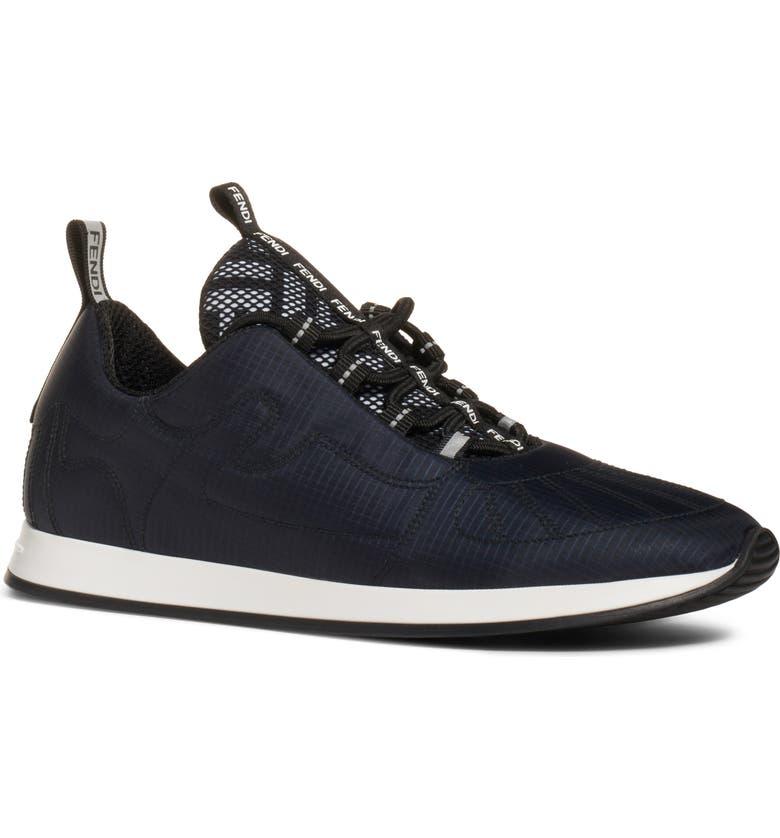FENDI FFreedom Sneaker, Main, color, BLUE/ BLACK