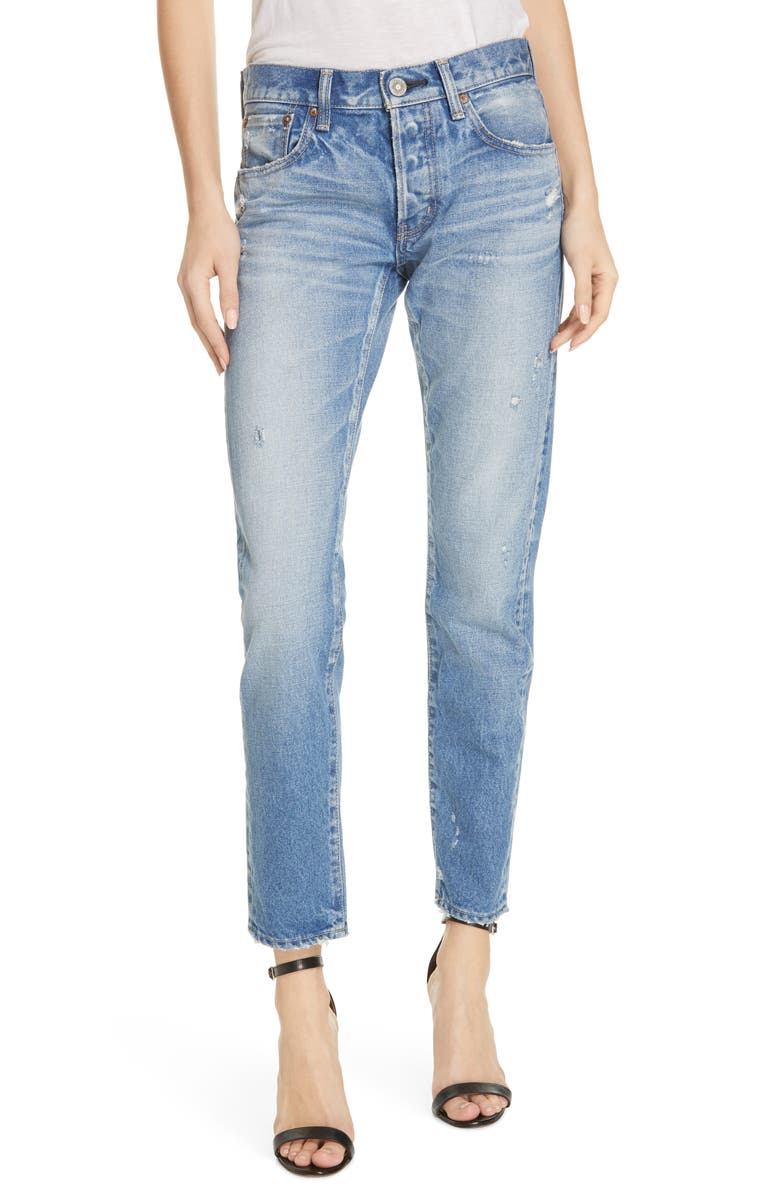 MOUSSY VINTAGE Magee Tapered Jeans, Main, color, LIGHT BLUE