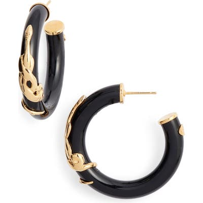 Gas Bijoux Small Cobra Hoop Earrings