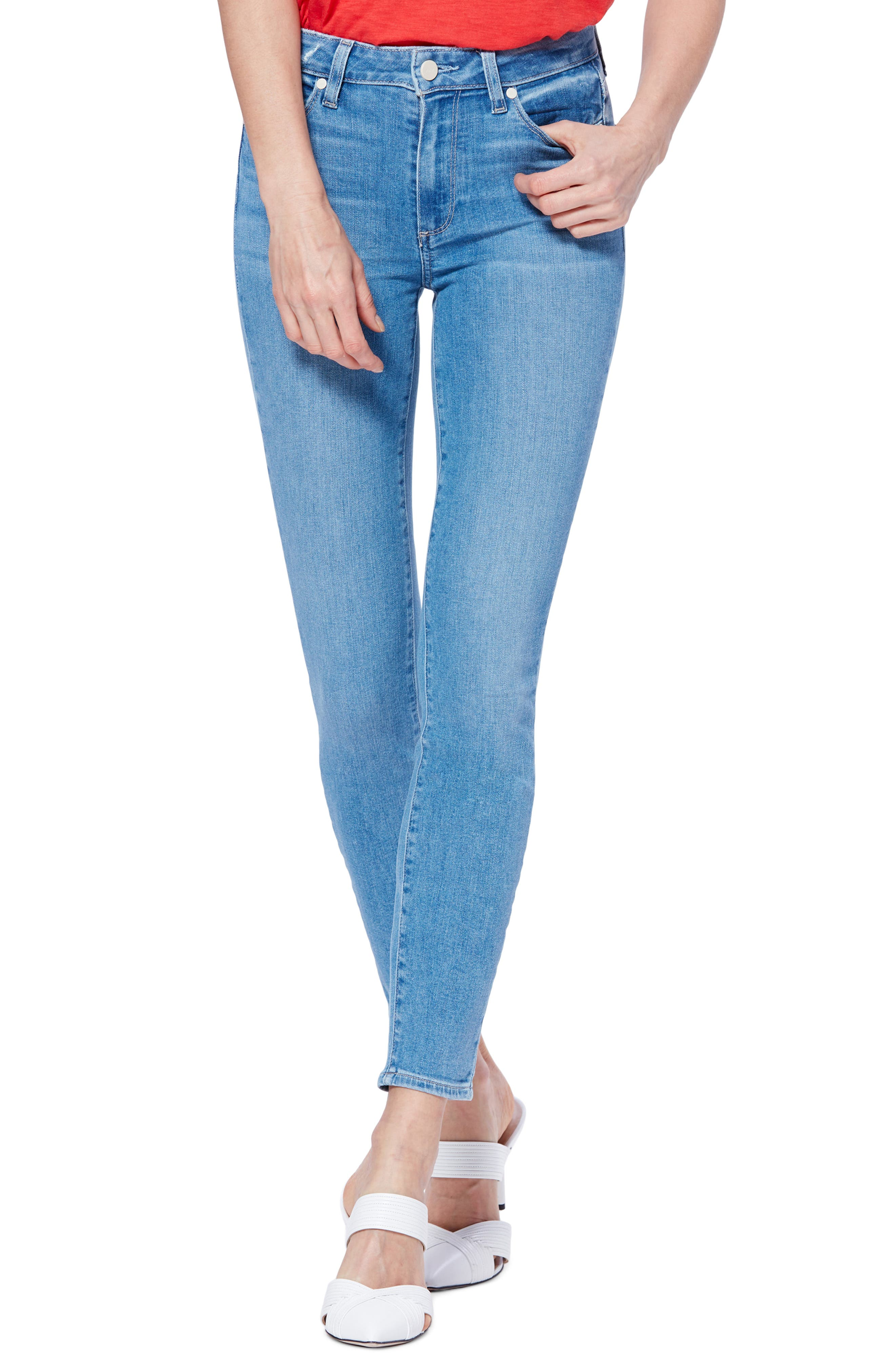 Transcend Vintage - Hoxton High Waist Ankle Skinny Jeans, Main, color, 400