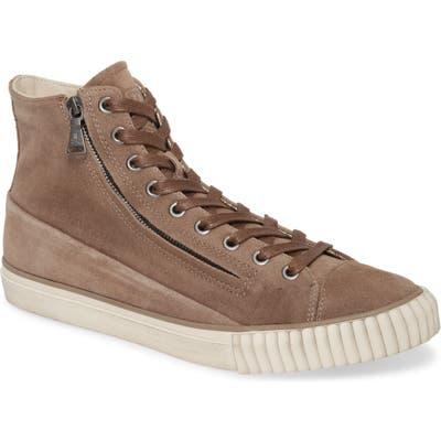 John Varvatos Star Usa Double Zip Sneaker- Brown