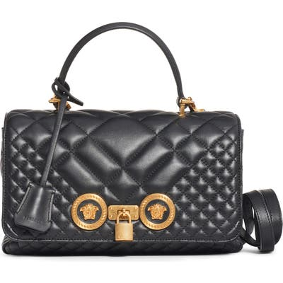 Versace Medium Icon Quilted Leather Top Handle Bag -