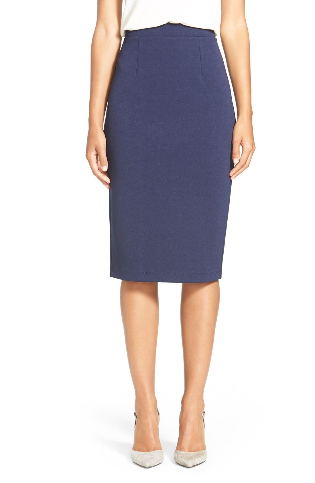 ,                             Zip Back Knit Pencil Skirt,                             Main thumbnail 12, color,                             410