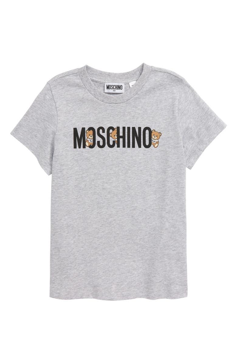 MOSCHINO Hiding Bears Graphic Tee, Main, color, GREY