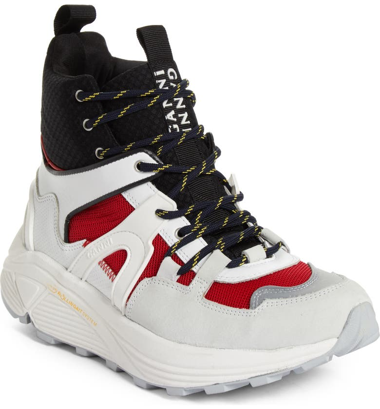 7c0d3615f2c High Top Tech Sneaker, Main, color, FIERY RED 403