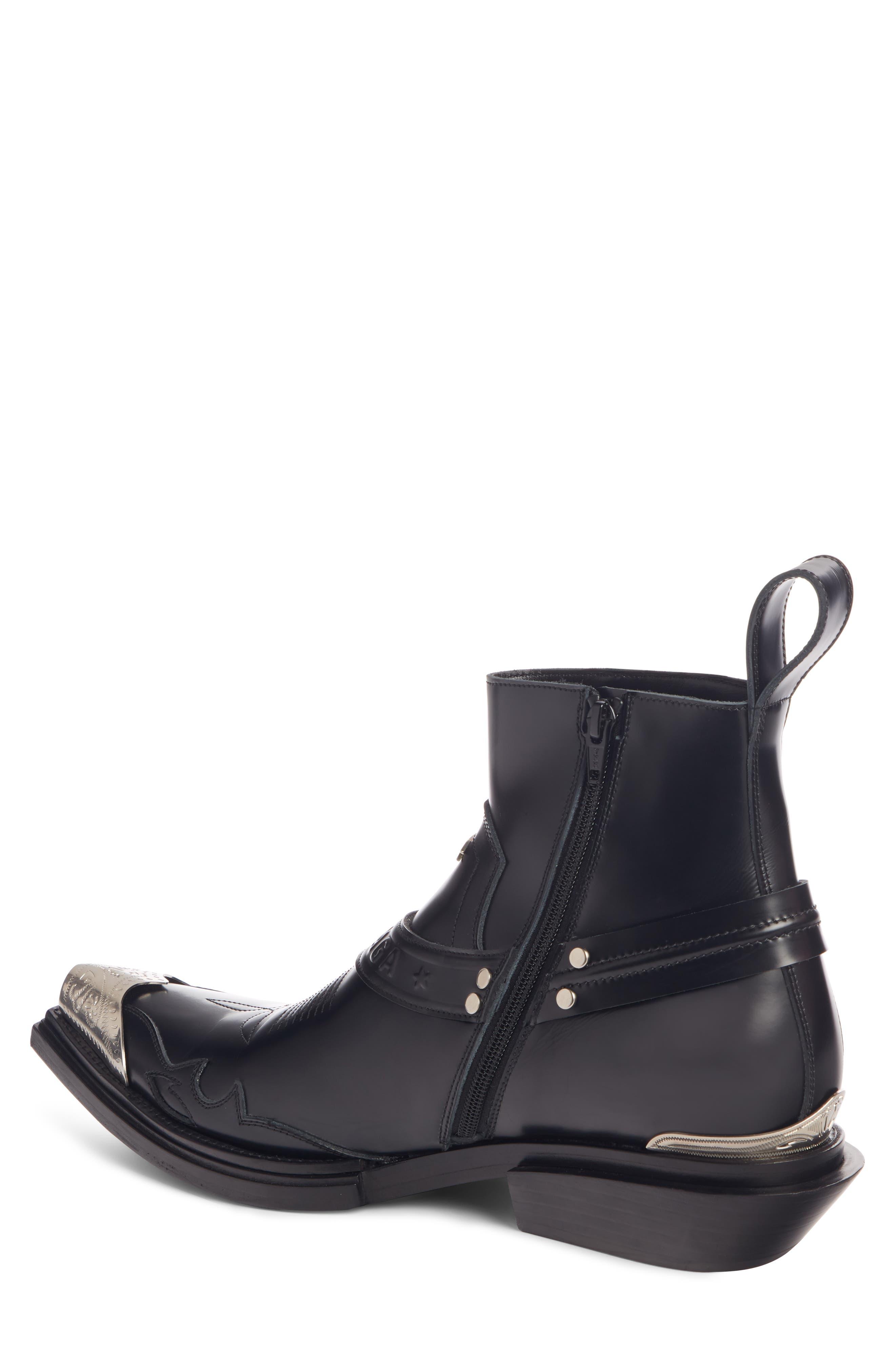 ,                             Santiag Harness Boot,                             Alternate thumbnail 2, color,                             BLACK
