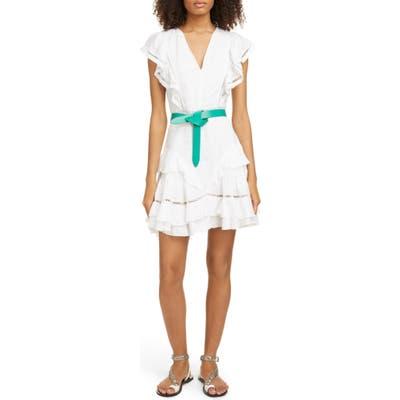 Isabel Marant Etoile Audrey Ladder Stitch Linen Minidress, US / 44 FR - White