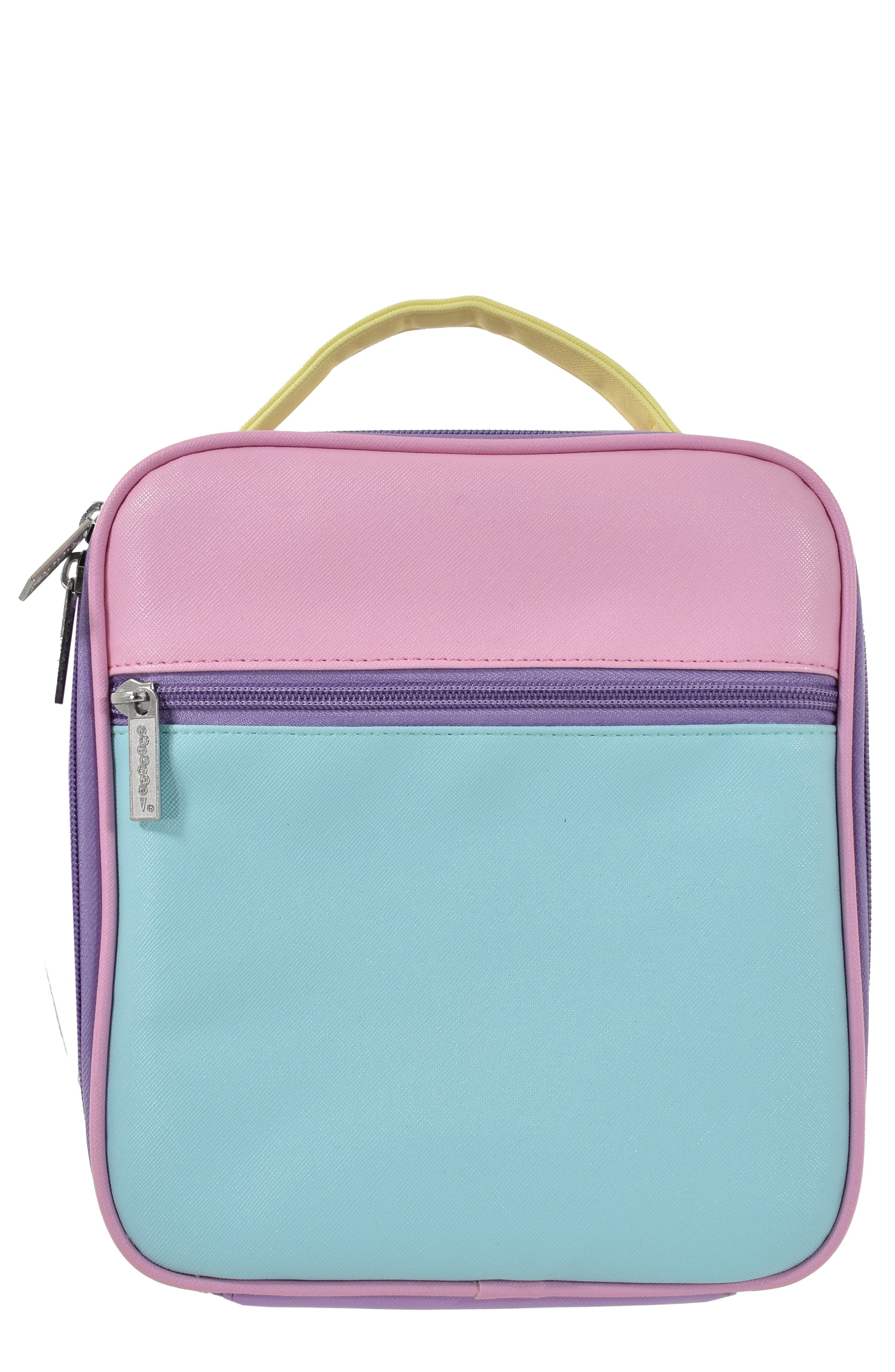 Colorblock Insulated Lunch Tote