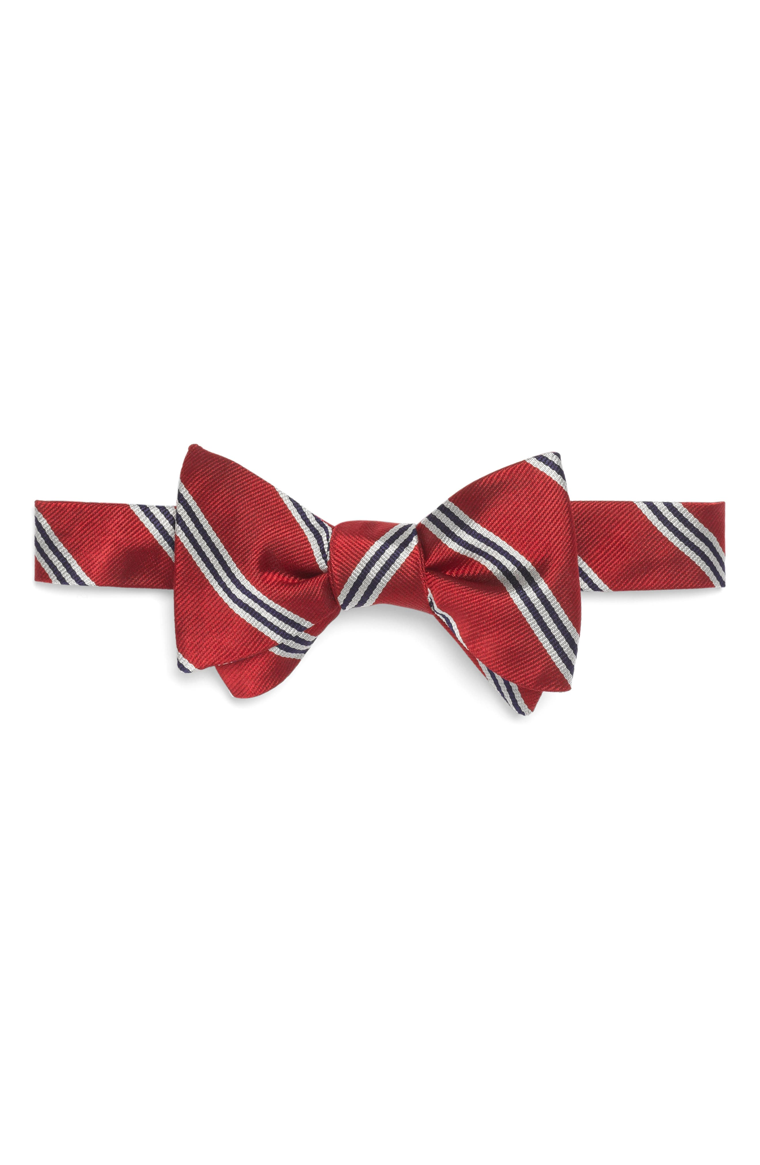 New 1920s Style Ties and Bowties Mens Brooks Brothers Silk Stripe Bow Tie $89.50 AT vintagedancer.com