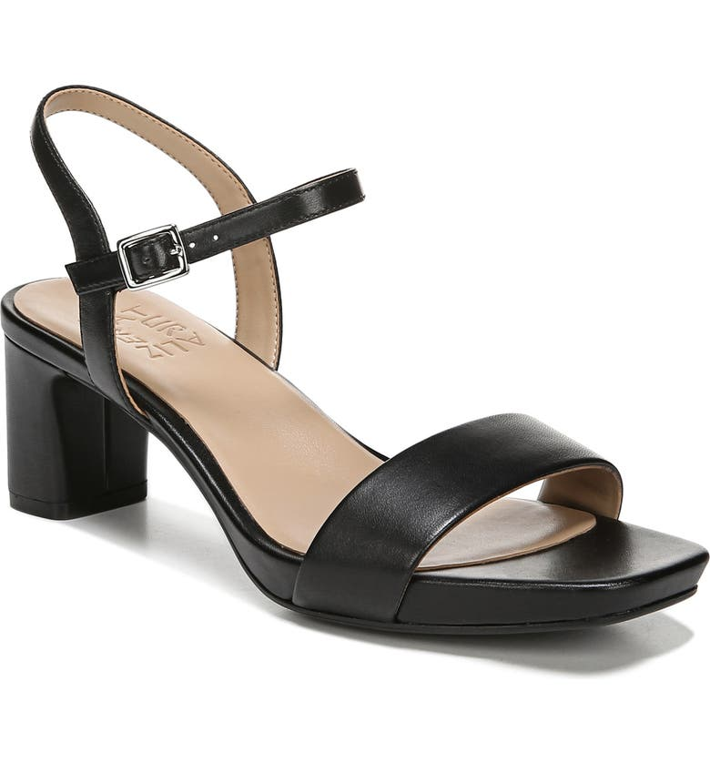 NATURALIZER Ivy Quarter Strap Sandal, Main, color, BLACK LEATHER